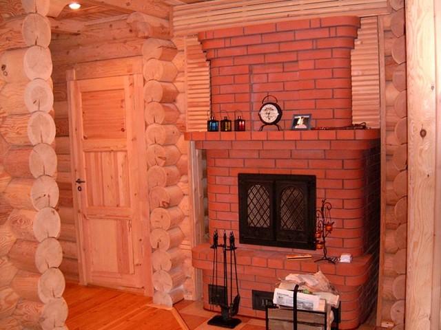 Камин в деревянном доме своими руками фото