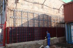 Усиление кирпичной стены армированной обоймой