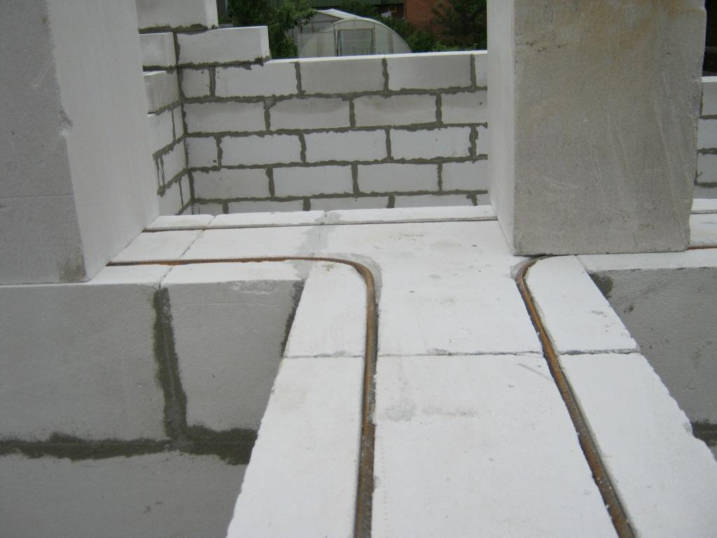 Армирование кладки газобетонными блоками