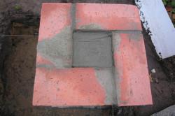 Заливка бетона в столб