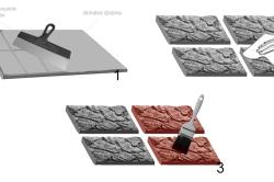 Этапы изготовления искусственного камня