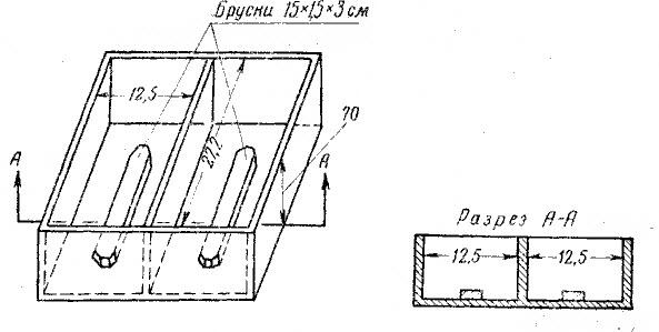 Форма-поддон на два кирпича-сырца.