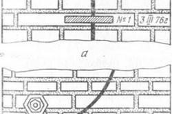 Гипсовый (а) и пластинчатый (б) маяки