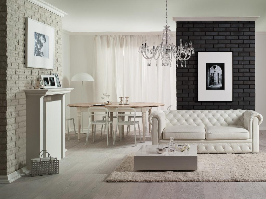 Имитация кирпича в интерьере квартиры