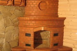 Печь камин из кирпича