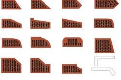 Разновидность фигурного облицовочного кирпича