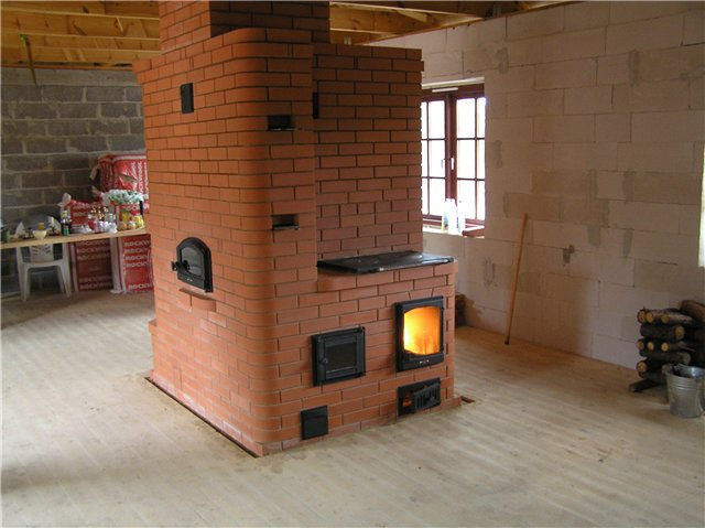 Колпаковая печь с хлебной камерой