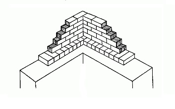 Порядовка в один кирпич на бетонном основании