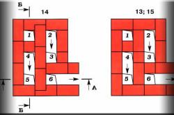 Классическая схема галанки - вид сверху.