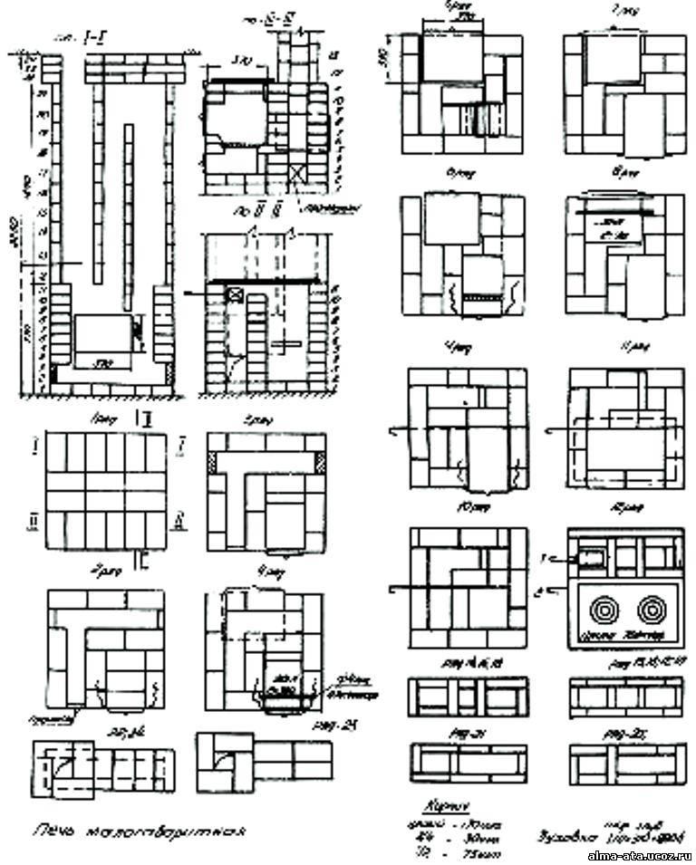 Кирпичный мангал с чертежами