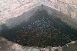 Строительство фундамента для камина