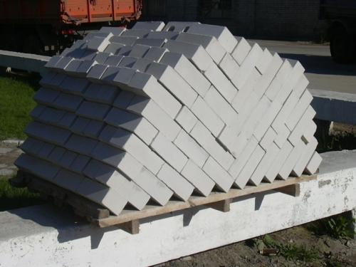 Транспортировка силикатного кирпича