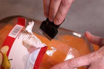 Удаление этикетки - метод №2.
