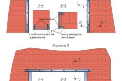 Усиление проема в несущих стенах с подведением рам из швеллеров
