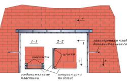 Усиление проема в несущей стене с подведением перемычки из швеллеров и обрамлением уголками