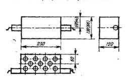 Схема пустотелого кирпича