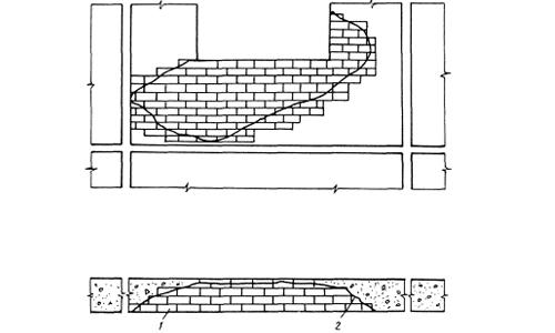 Схема ремонта повреждений кирпичной кладки