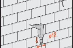 Схема сверления кирпичной стены