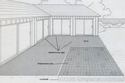 Схема температурного шва между бетонным плитами