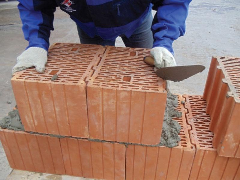Кладка керамоблока своими руками 81