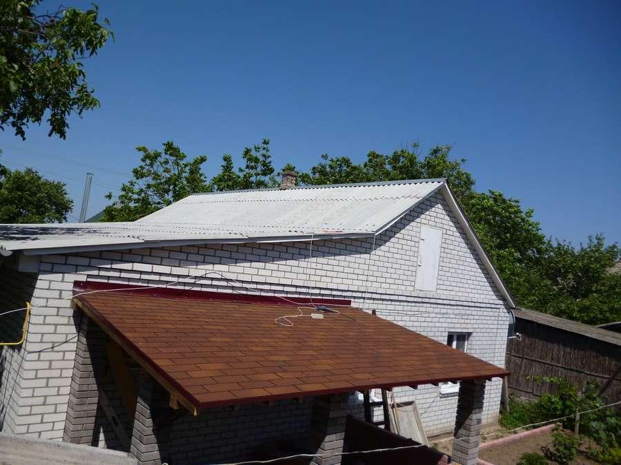 Крыша для беседки из битумной черепицы