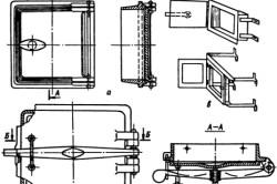 Схема установки топочной дверки