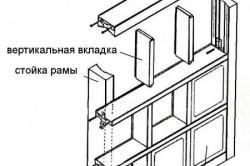 Монтаж стеклянных кирпичей на деревянную перегородку