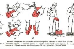 Заготовка кирпича