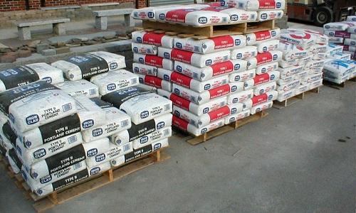 Хранение цемента на подожках