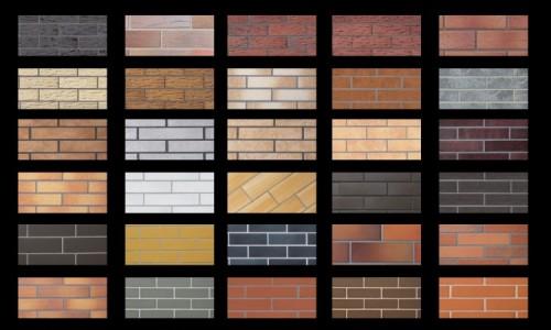 Клинкерная плитка различного дизайна