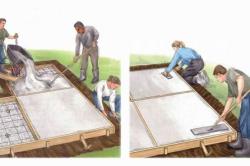 Схема нанесения швов на тротуарную плитку