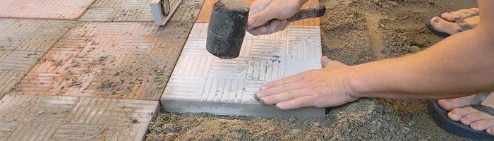 Правильный раствор для тротуарной плитки – пропорции и составляющие