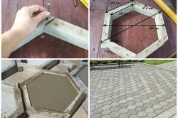 Пример изготовления форм из дерева для шестигранной тротуарной плитки