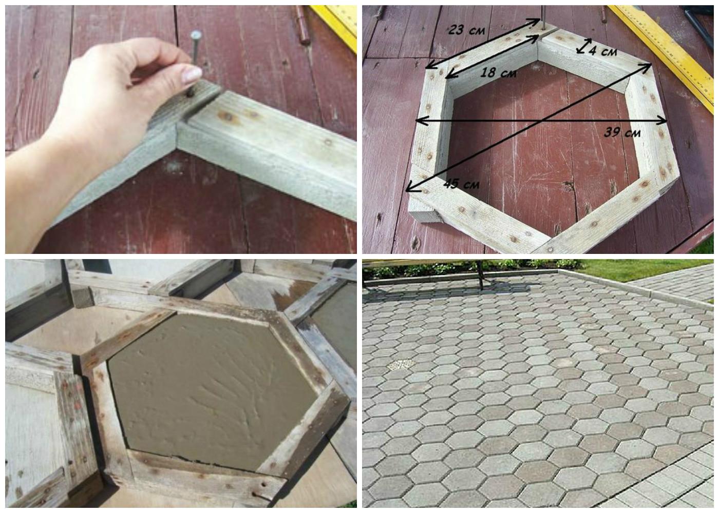 Как самому сделать форму для бетонных дорожек
