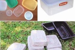 Формы для плитки из кухонных пластиковых контейнеров