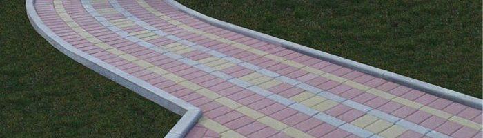 Как своими руками производится установка бордюра для тротуарной плитки?