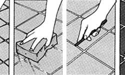 Схема затирки швов тротуарной плитки