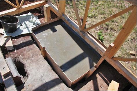 Фундамент для кирпичного мангала