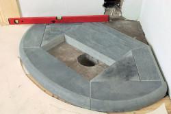 Фундамент под камин из камня.