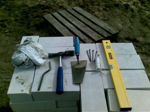 Инструменты для выполнения кирпичной кладки.