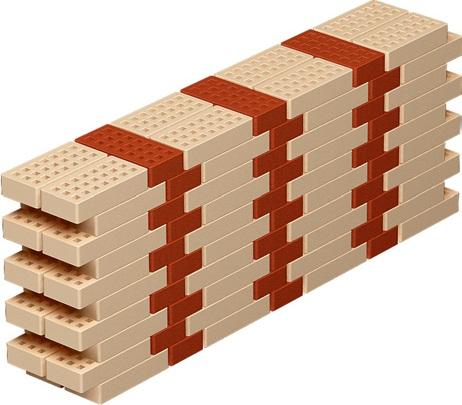 Ложковая кирпичная кладка — смещение на 1/4 кирпича.