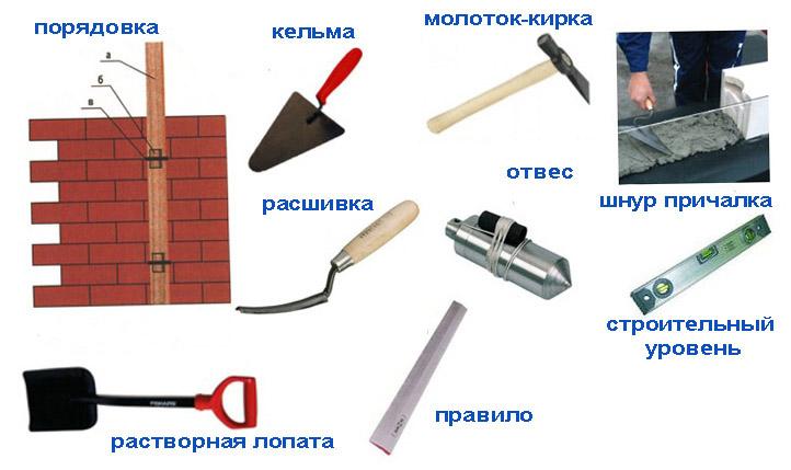 Инструмент каменьщика.