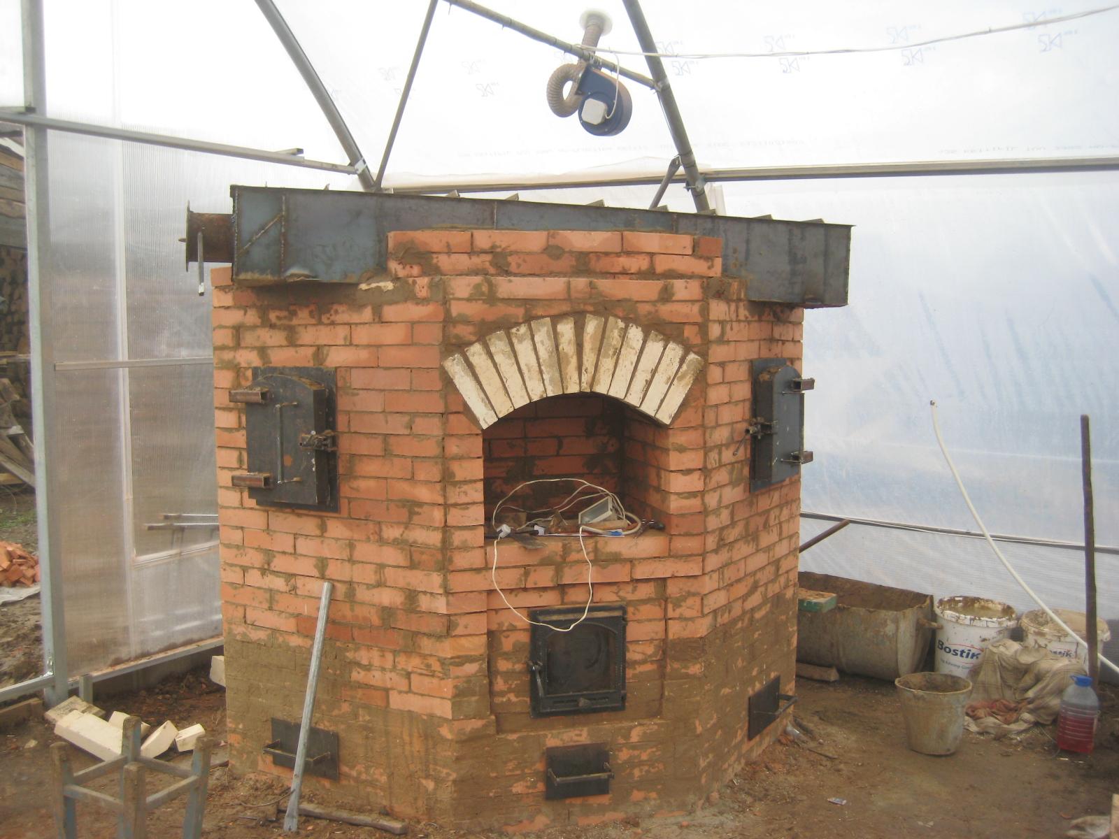 Готовая пиролизная печь