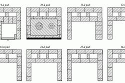 Схема порядовки печи: 9-16 ряд.
