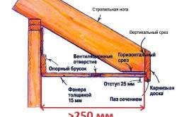 Схема карнизного свеса в разрезе.