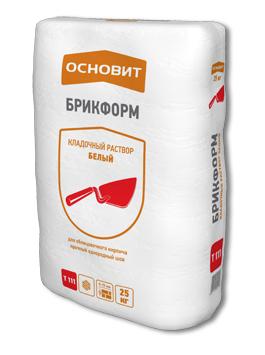 Белый кладочный раствор для кладки стен из всех видов керамического и силикатного кирпича, природного камня, керамических блоков и плит, кладочный раствор ОСНОВИТ БЛОКФОРМ Т-111 (белый).