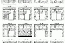 Схема кладки кирпичных рядов для печи-малютки