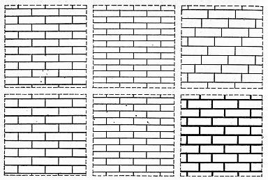 Различные виды расшивки швов кирпичной кладки стен.