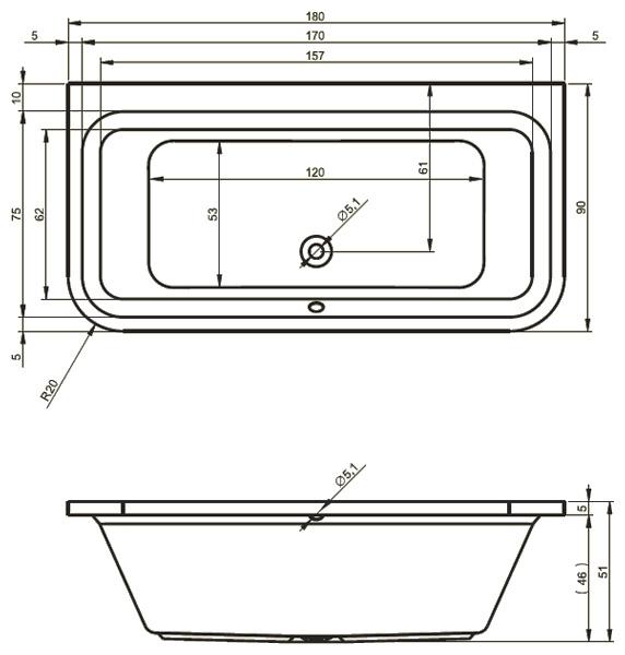 Схема расчета размера ванной