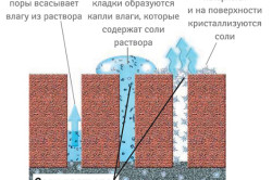 Схема кристаллизации соли на стенах